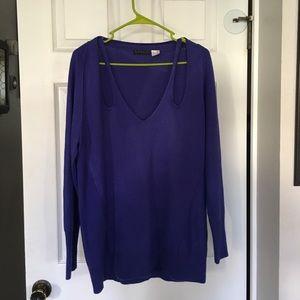 Venus blue sweater with cutouts (Size L)